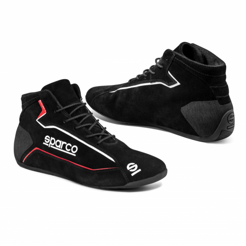 Sparco Slalom + Suede Race Boots (Black, Red and Blue options)