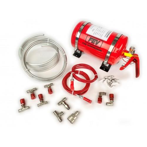 FEV Mechanical 4ltr Steel Bottle Fire Extinguisher Kit