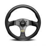 Momo Team Steering Wheel in Black Leather 280mm