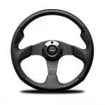 Momo Jet Steering Wheel in Black Leather 320mm