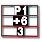 Motamec Motorsport Racing Lightweight 3 Row Pit Board Frame