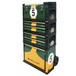 Motamec Modular Tool Box Trolley Mobile Cart Cabinet Chest Racing Green C41H