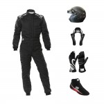 Go Racing Starter Kit Open Face Carbon Helmet bundle Black