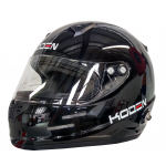 Koden Snell Approved SA2015 Full Face Black Helmet with HANS Posts