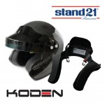 Koden Open Face Carbon Helmet and FHR Bundle