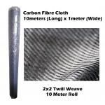 Carbon Fibre Cloth 1000mm wide 10 meters long (2x2 Twill Weave)