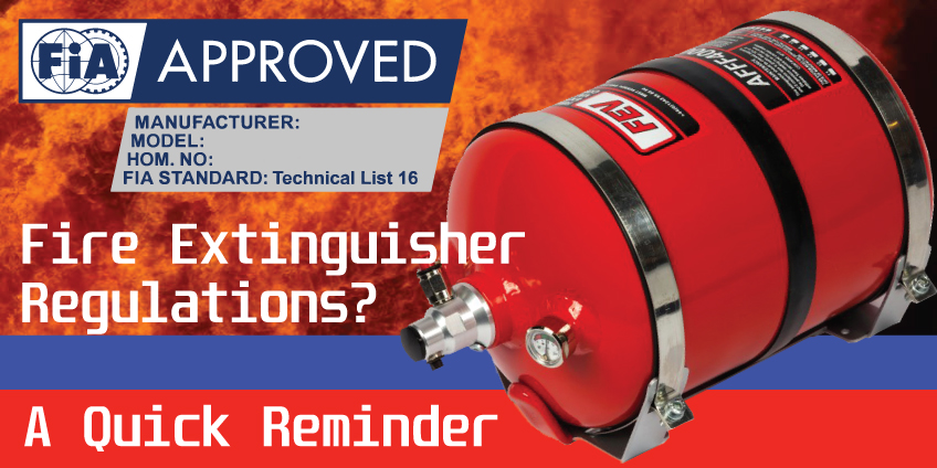 A reminder about Fire Extinguisher regulations...