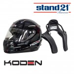 Koden Snell Approved SA2015 Black Helmet with Stand 21 Club FHR Device