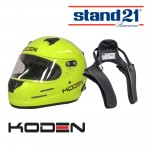 Koden Snell Approved SA2015 Yellow Helmet with Stand 21 Club FHR Device