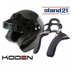 Koden Open Face All Carbon Helmet and FHR Bundle