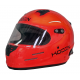 Koden Snell Approved SA2015 Full Face Orange Helmet with HANS Posts