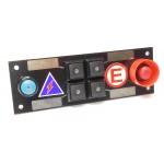 CARTEK PDM Switch Panel 6W (all black, plain)