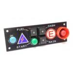 CARTEK PDM Switch Panel 6W (black + START, marked)