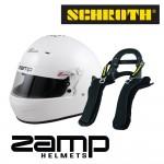Zamp RZ 56 (SA2020) Helmet with Schroth Super Sport XLT FHR Device Bundle