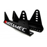 Motamec Steel Seat Side Mounts Brackets Universal Fits Sparco OMP with Stickers