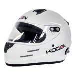 Koden Snell Approved SA2015 Full Face White Helmet with HANS Posts
