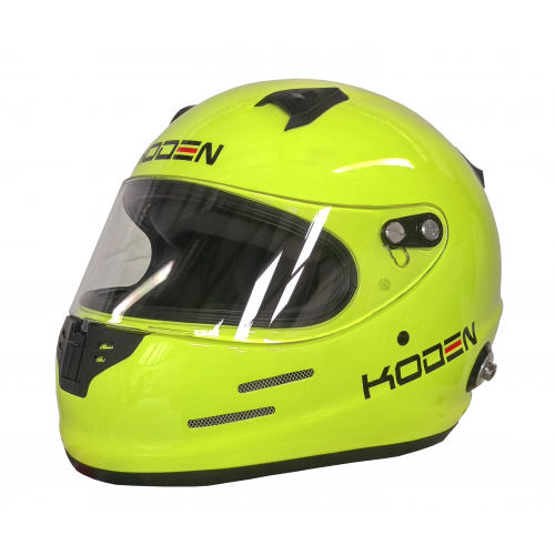 Koden Snell Approved SA2015 Full Face Yellow Helmet with HANS Posts
